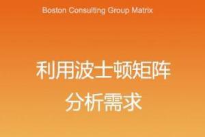 利用波士顿矩阵分析需求