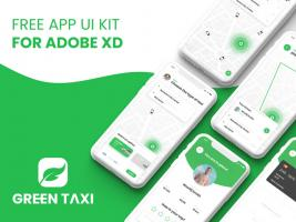 XD格式简洁的打车app基础功能界面
