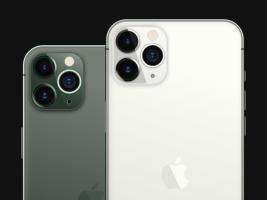 iPhone 11 Pro Max 暗夜绿和银色模型